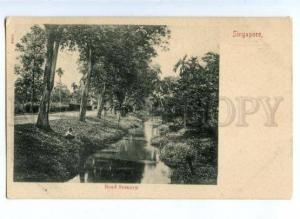172159 SINGAPORE Road Scenery Vintage postcard