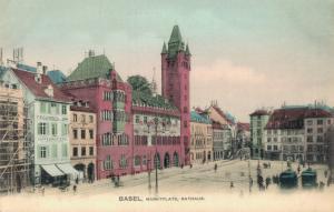 Switzerland Basel Marktplatz Rathaus 01.83