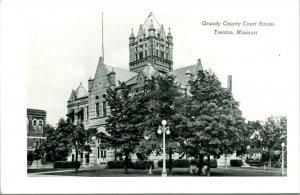 Vtg Postcard RPPC Grundy County Court House - Trenton Missouri - Unused