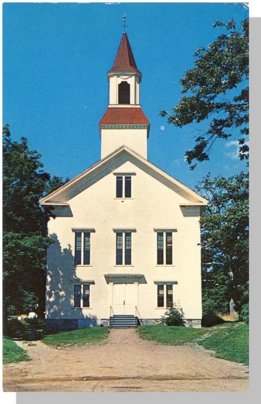Kittery Maine Me Postcard First Baptist Church Near Mint