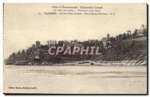 Postcard Old Emerald Coast Edges Rance Plouer The Port Saint Hubert