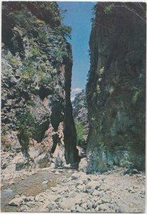 Greece, CRETE - CANEA, The ravine of Samaria, used Postcard