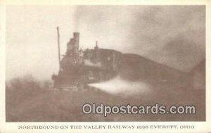 Northbound Valley Railway, Everett, Ohio, OH USA Trains, Railroads Unused