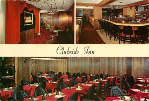 Clubside Inn Wheaton Illinois North Ave. Bloomingdal Rd. Postcard