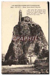 Old Postcard Le Puy Rocher St. Michel d & # 39Aiguilhe