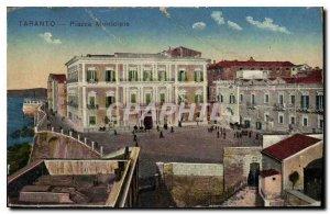 Postcard Old Taranto Piazza Municipio
