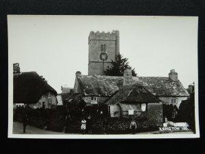 Devon ISLINGTON Church & BOOT REPAIR SIGN c1950s RP Postcard by K.E Ruth