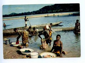 196052 AFRICA SENEGAL nude washing in river Old photo postcard