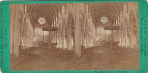 SV: MONTREAL , Quebec , Canada , 1880s ; English Cathedral Interior