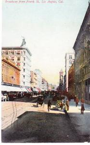 US - Broadway from Fourth St. Los Angeles 1909