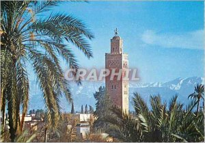 Postcard Modern Marrakech Morocco the picturesque panorama with Koutoubia