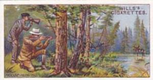 Wills Cigarette Card Overseas Dominions Canada No 44 Moose Hunting