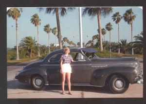 1941 BUICK CAR DEALER ADVERTISING POSTCARD '41 BUICK PRETTY WOMAN GIRL