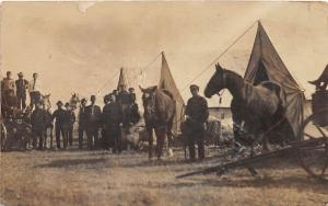 D86/ Occupational RPPC Real Photo Postcard c1910 Work Camp Horses Tents 24
