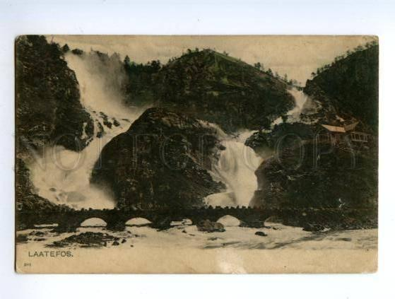 138224 Norge Norway CHRISTIANIA Laatefos Waterfall Oslo OLD PC
