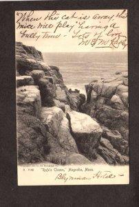 MA Rafe's Chasm Rafe Magonila Mass Massachusetts Postcard UDB1905 Ocean