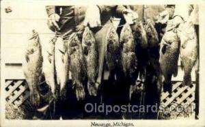 Fishing Postcard Post Card  Newaygo, Michigan