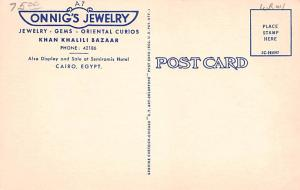 Jewelry Advertising Old Vintage Antique Post Card Onnig's Jewelry, Khan ...