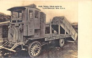 Clintonville WI 4 Wheel Drive Auto Co. Capital Lumber in 1918 RPPC Postcard