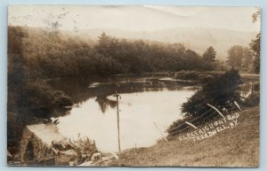 Postcard NY Treadwell Electric Light Pond RPPC Real Photo 1908 K20