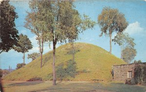 G32/ Moundsville West Virginia Postcard Chrome Grave Creek Indian Mound