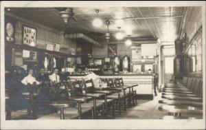 Coffee Shop 'Old Restaurant in Ansonia' c1910 Real Photo Postcard