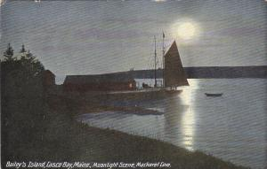 BAILY'S ISLAND , Maine, 00-10s Moonlight Scene