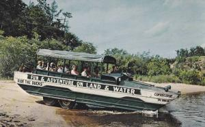 Duck Entering Wisconsin River, Car Boat, Fun Adventure Tours, Wisconsin Dells...