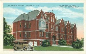 St. Francis Hospital, Macomb Il, 1910s-1920s unused Postcard