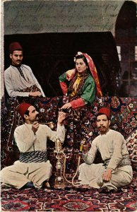 PC CPA ARABIAN TYPES AND SCENES, MUHAMEDANER BEIM MOKKA, (b17387)