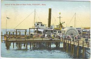 Bass Point Nahant MA Steamer Arrival Vintage Postcard