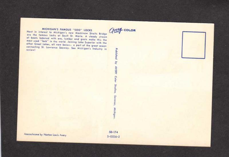 MI Sault St Marie Michigan Postcard George W Humphrey Ship National Steel Corp