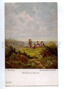 187815 Dairymaids on summer pasture by SPITZWEG Vintage PC