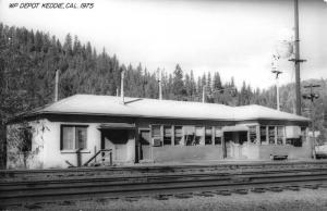 Keddie California WP Railroad Depot Real Photo Vintage Postcard K103516