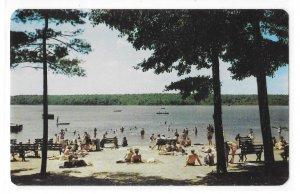 PA Pocono Mountains Lake Beach Swimming Pennsylvania John Valence Photo Postcard