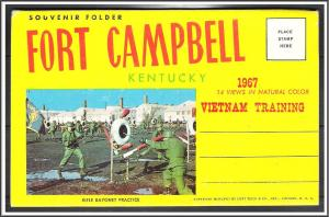Kentucky, Fort Campbell Vietnam Training Large Alphabet Souvenir Folder