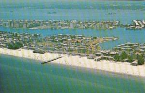 Florida Clearwater Beach Aerial View