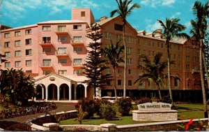 Bermuda Hamilton New Princess Hotel Front Entrance 1966