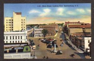 SC Main Street SPARTANBURG SOUTH CAROLINA Postcard PC