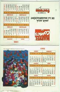 Postal : calendario mesa Forum 1995