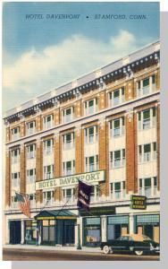 Stamford Conn/CT Postcard, Hotel Davenport, 1950's?