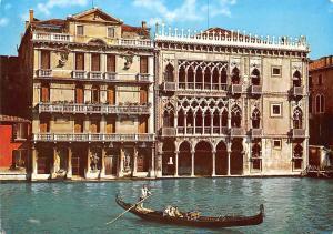 Italia Venezia - Ca' d'Oro, gondola, scene 1971