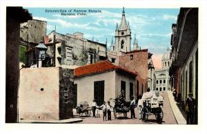 13797   Cuba Havana  Intersection of Narrow Streets