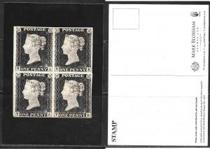 stamps, UK 1a mint plate block 1a, unused
