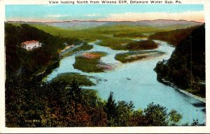 Pennsylvania Delaware Water Gap View Looking North From Winona Cliff