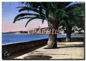 Postcard Moderne Menton Garavan View from