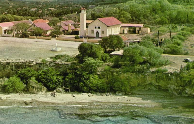curacao, N.W.I., WESTPUNT, View of Village at Western Tip of the Island (1970s)