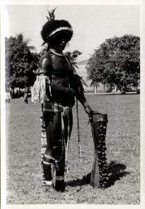 Papua New Guinea, Real Photo Native Papuas, Native Warrior (1930s) RP (07)