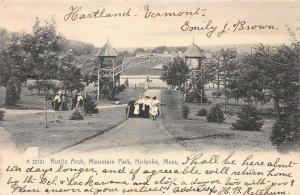 LPS45 Holyoke Massachusetts Rustic Arch Mountain Park Postcard