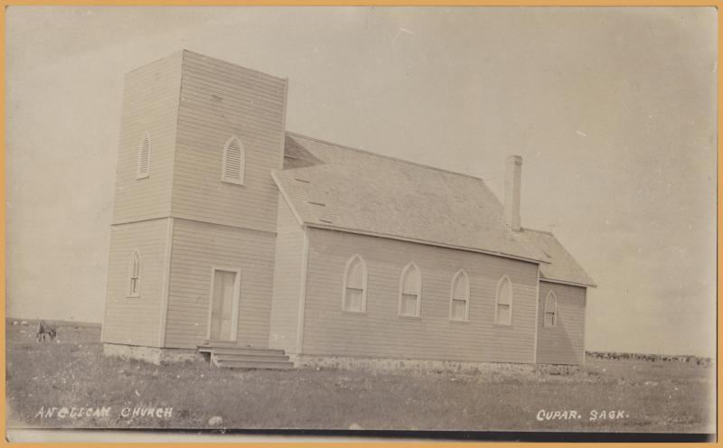RPPC- Cupar, Saskatchewan, Anglican Church